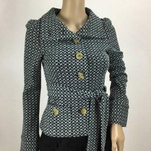 Diane von Furstenberg Teal & Brown Knit Jacket 2